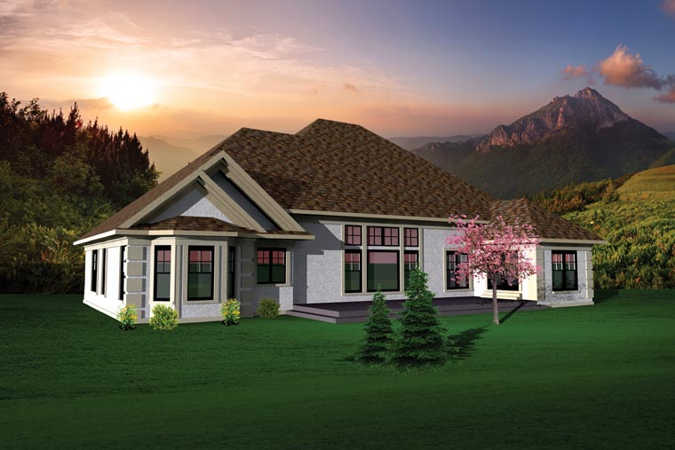 Country Ranch House Plan 73145 Rear Elevation