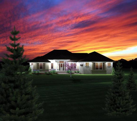 Ranch House Plan 73156 with 2 Beds, 2 Baths, 2 Car Garage Elevation