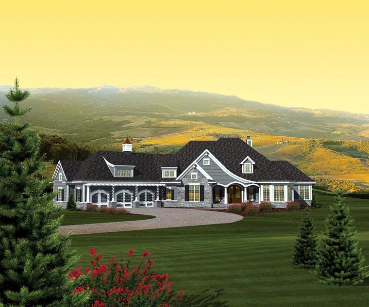 House plan 73165 at for Ranch house with garage