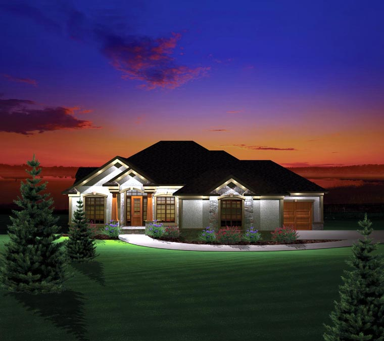 Ranch House Plan 73168 Elevation