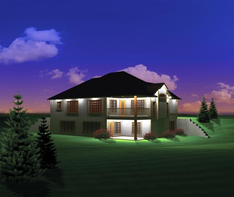 Ranch House Plan 73168 Rear Elevation