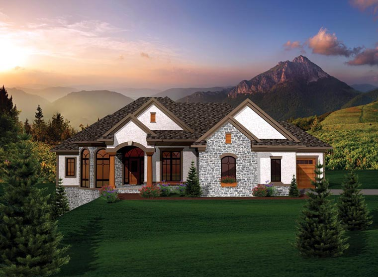 Ranch House Plan 73169 Elevation