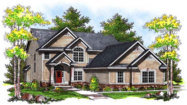 Traditional House Plan 73173 Elevation
