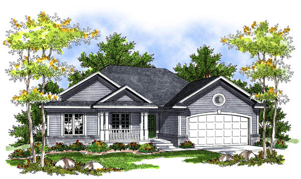 Ranch House Plan 73202 Elevation