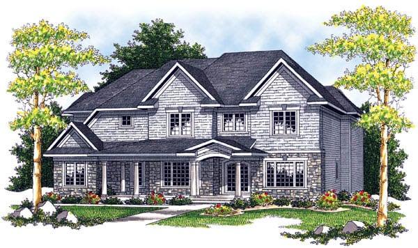 European House Plan 73205 Elevation
