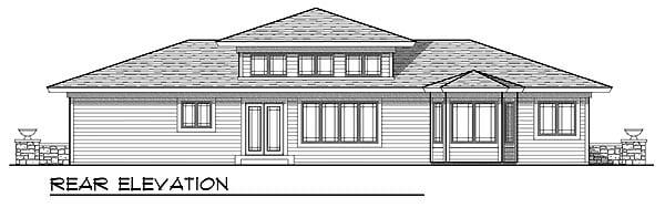 Prairie Style Southwest House Plan 73219 Rear Elevation