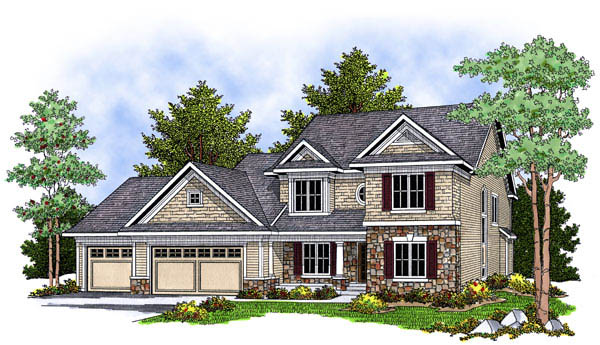Traditional House Plan 73229 Elevation