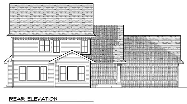 Traditional House Plan 73229 Rear Elevation
