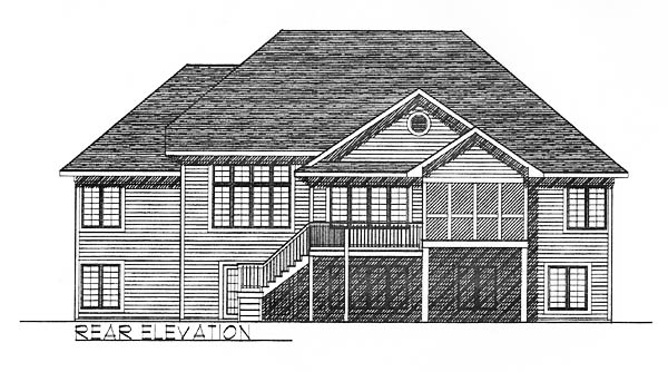 Traditional House Plan 73242 Rear Elevation