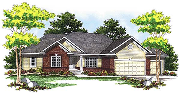 Traditional House Plan 73246 Elevation