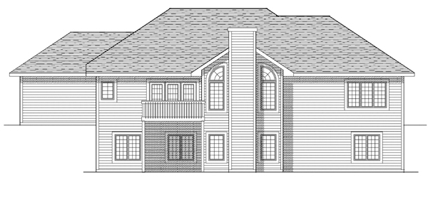 Traditional House Plan 73246 Rear Elevation