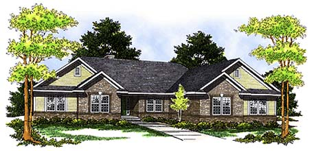 Traditional House Plan 73250 Elevation