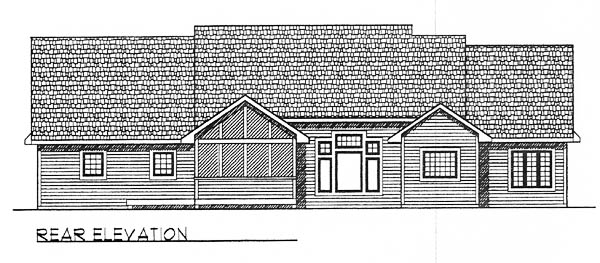 Traditional House Plan 73255 Rear Elevation