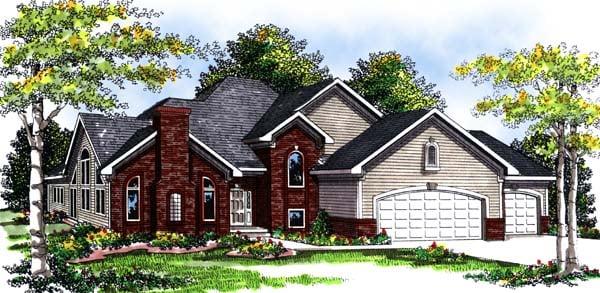Craftsman Traditional House Plan 73300 Elevation