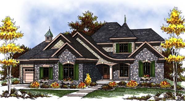 European Tudor Victorian House Plan 73308 Elevation