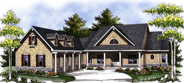 Country, Craftsman, One-Story, Ranch House Plan 73312 with 2 Beds, 3 Baths, 3 Car Garage Elevation