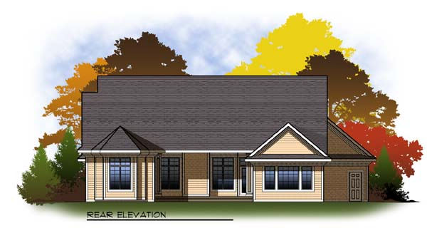 Country Craftsman Traditional House Plan 73314 Rear Elevation