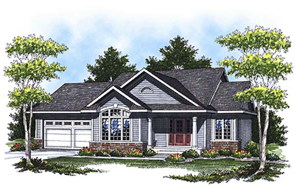 Colonial Traditional House Plan 73326 Elevation