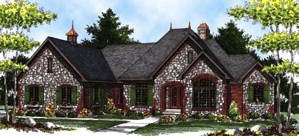 European Tudor House Plan 73329 Elevation