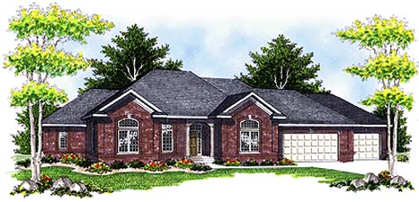 Traditional House Plan 73330 Elevation