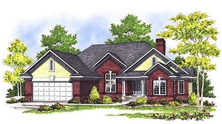 European Traditional House Plan 73346 Elevation