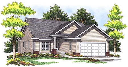 Traditional House Plan 73352 Elevation