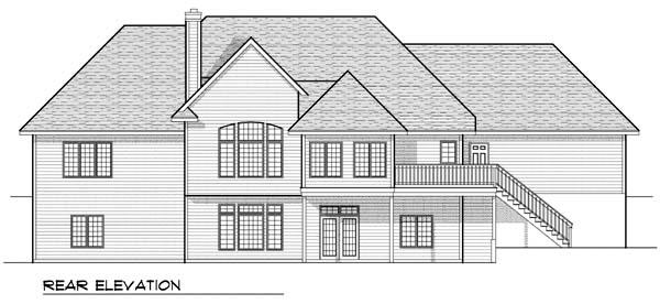 European House Plan 73382 Rear Elevation