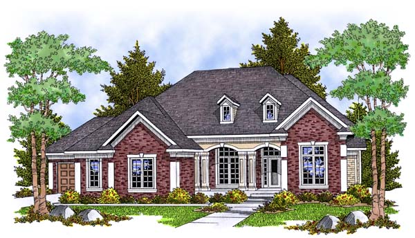 Traditional House Plan 73385 Elevation