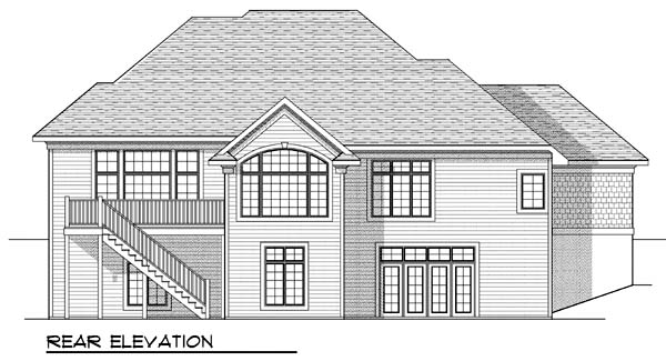 Traditional House Plan 73385 Rear Elevation
