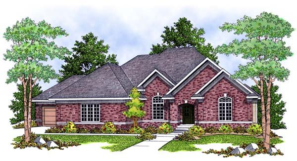Traditional House Plan 73389 Elevation