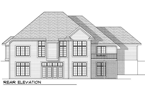 Traditional House Plan 73389 Rear Elevation