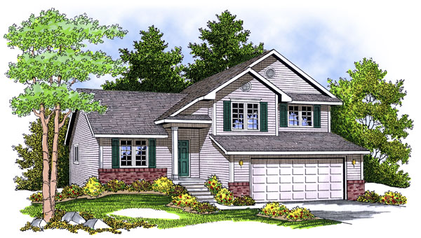 House plan 73401 at for Side split house designs