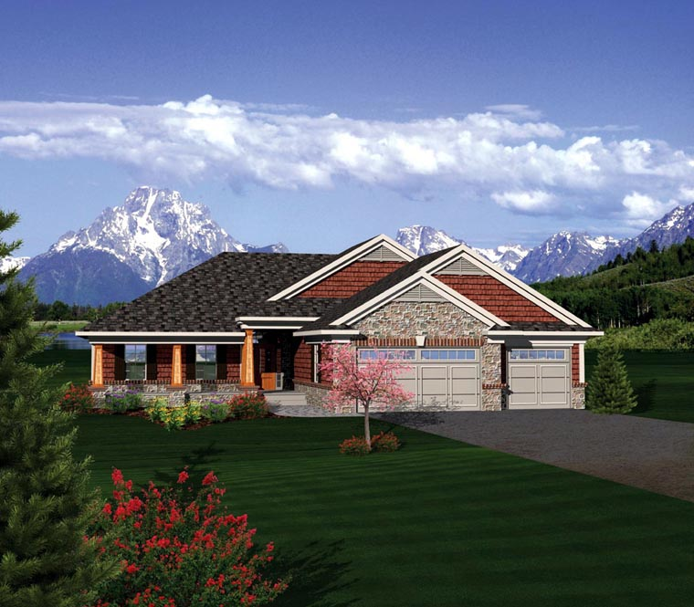 Ranch House Plan 73404 Elevation