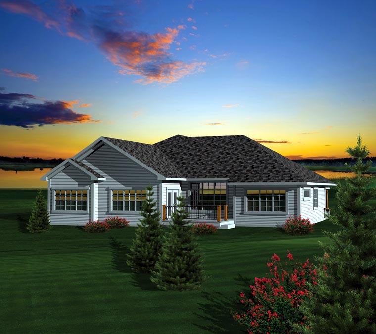 Ranch House Plan 73404 Rear Elevation