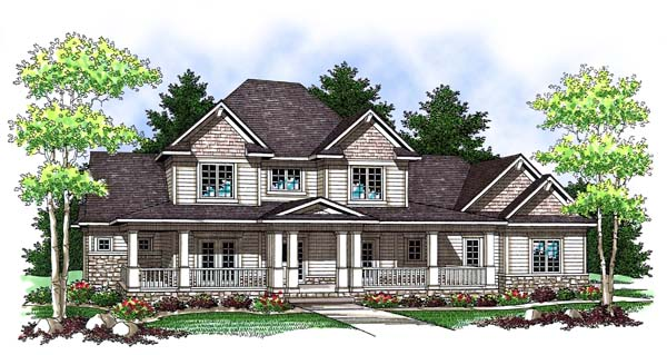 Country Farmhouse House Plan 73421 Elevation