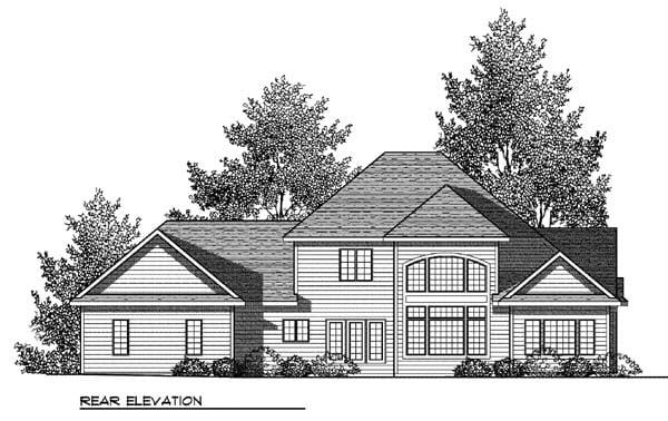 Country Farmhouse House Plan 73421 Rear Elevation
