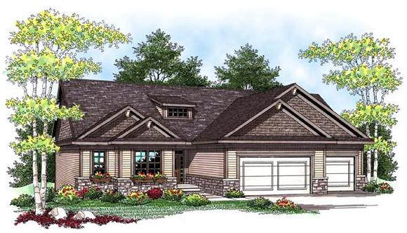 Ranch, Traditional House Plan 73422 with 4 Beds, 3 Baths, 3 Car Garage Elevation