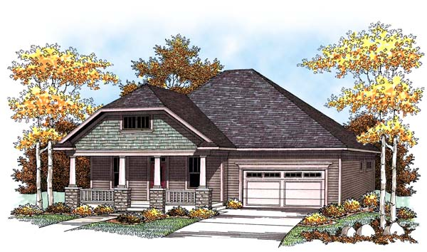 Craftsman European House Plan 73427 Elevation
