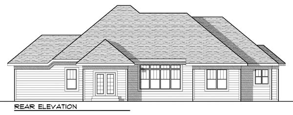 Traditional House Plan 73431 Rear Elevation