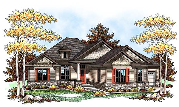 Traditional House Plan 73432 Elevation