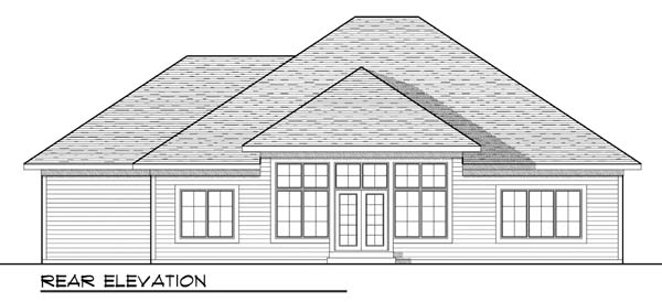 Traditional House Plan 73432 Rear Elevation