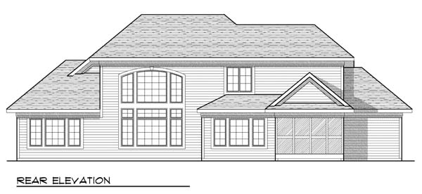 Tudor House Plan 73433 Rear Elevation