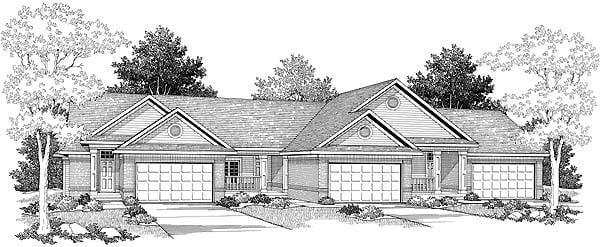 Ranch Multi-Family Plan 73483 Elevation
