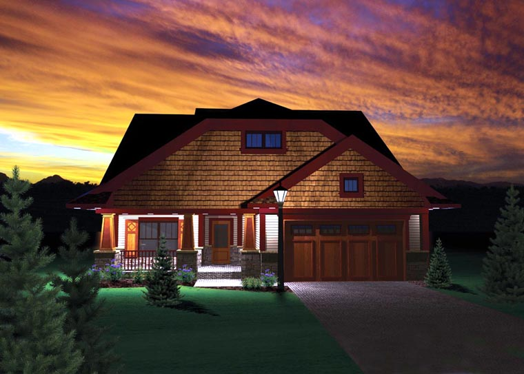 Craftsman Ranch House Plan 73495 Elevation