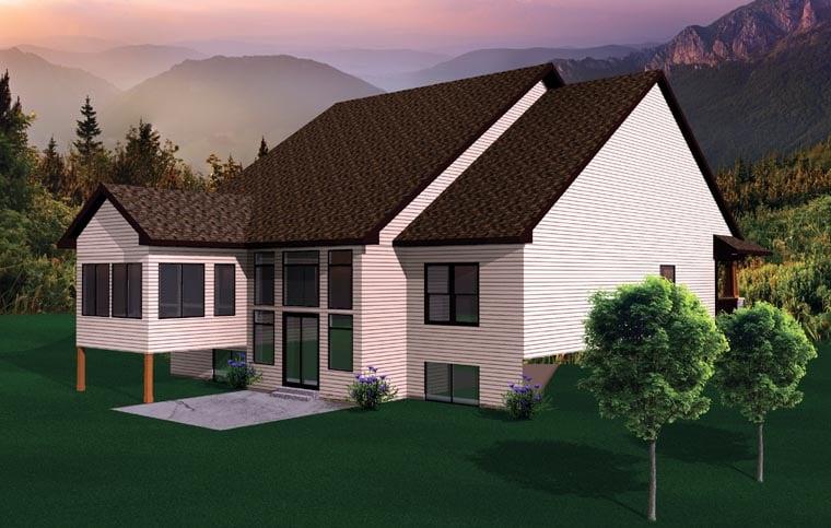 Craftsman Ranch House Plan 73495 Rear Elevation