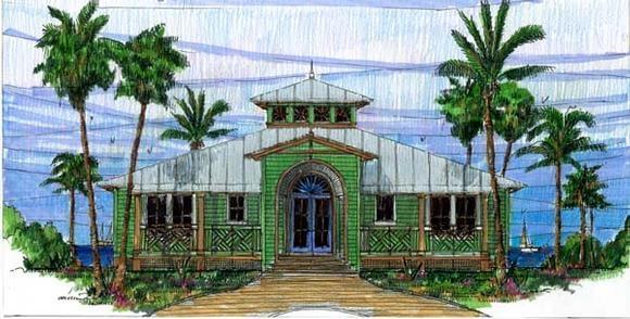 Coastal, Florida, Southern House Plan 73603 with 3 Beds, 2 Baths Elevation