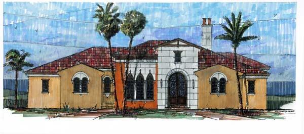 Florida, Mediterranean House Plan 73607 with 4 Beds, 6 Baths, 3 Car Garage Elevation