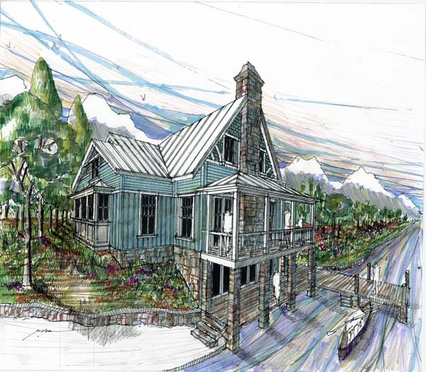 Craftsman, Traditional House Plan 73609 with 3 Beds, 4 Baths Elevation