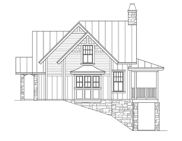 Craftsman, Traditional House Plan 73609 with 3 Beds, 4 Baths Picture 3
