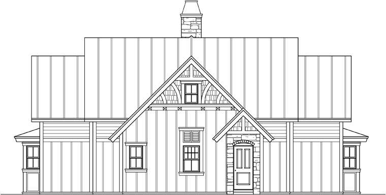 Craftsman, Traditional House Plan 73609 with 3 Beds, 4 Baths Picture 2